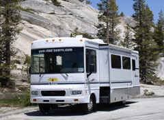 De luxe Wohnmobile USA Las Vegas Los Angeles San Francisco mieten TRAVELHiT.COM FERIEN21 32 ft Class A Motorhome